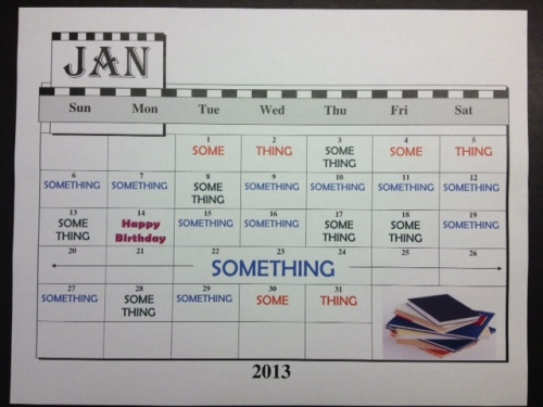 Month of Something Calendar