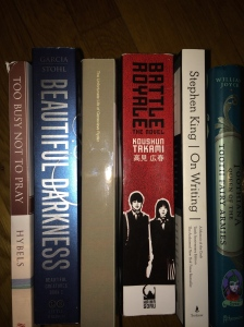 Currently on my nightstand  ... some on loan from friends. © 2014 the Jotter's Joint